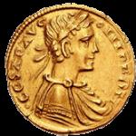 Августаль - золотая монета - аверс