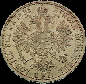 Австрия - Гульден (Флорин) 1885 года - аверс
