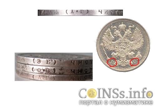 Знаки минцмейстеров на монетах - варианты