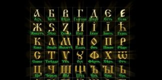 даты старославянскими буквами