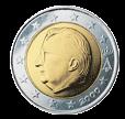 2 евро Бельгия 1999-2007