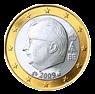 1 евро Бельгия 2009-2013