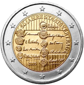 2 евро Австрия 2005 год