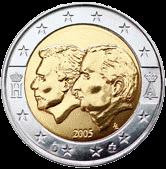 2 евро Бельгия 2005 год