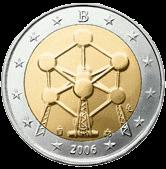 2 евро Бельгия 2006 год