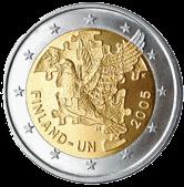 2 евро Финляндия 2005 год