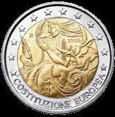2 евро Италия 2005 год