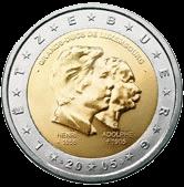 2 евро Люксембург 2005 год