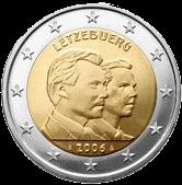 2 евро Люксембург 2006 год