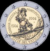 2 евро Ватикан 2006 год