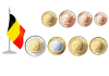 Монеты евро и евроценты Бельгия 2009-2013
