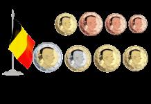 Монеты евро и евроценты Бельгия 2014-20