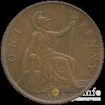 1 пенни Великобритании 1933 год - аверс