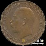 1 пенни Великобритании 1933 год - реверс