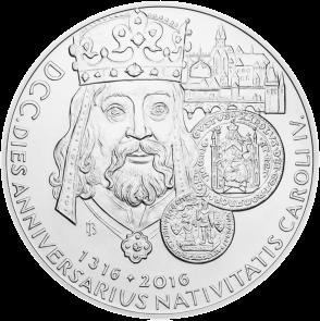 Чехия монета 100$ 700-летия Карла IV реверс