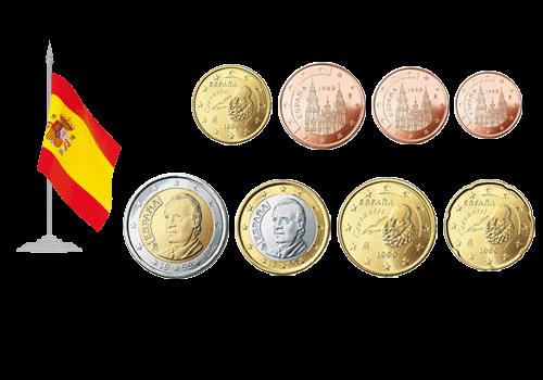 Евроценты испании 100 тенге 2004 г монета сколько стоит и фото