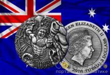 Австралия - 2 доллара Тувалу, Сражение Тора и змеи