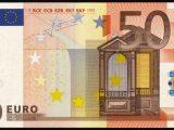 банкнота 50 евро 2002 года выпуска лицевая сторона