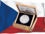 Чехия монета 100$ 700-летие Карла IV