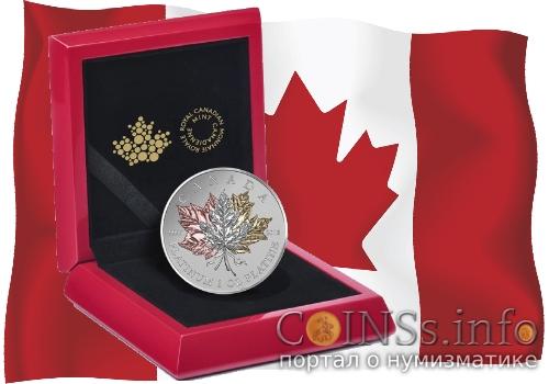 Канада выпустила платиновый Кленовый лист навсегда