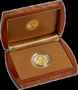 США монета 10 долларов Нэнси Рейган упаковка