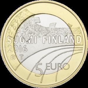 Финляндия 5 евро Футбол аверс
