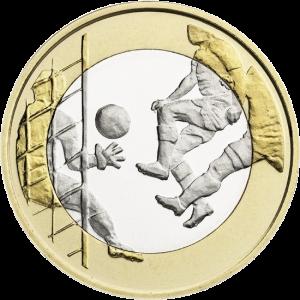 Финляндия 5 евро Футбол реверс