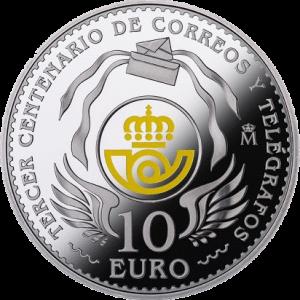 Испания 10 евро 300 лет Почтовой службы Испании аверс