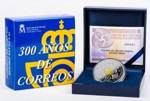 Испания 10 евро 300 лет Почтовой службы Испании презентация