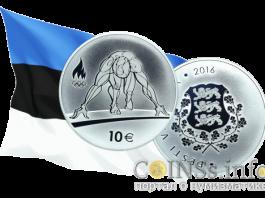Эстония 10 евро 2016 - XXXI летние олимпийские игры в Рио-де-Жанейро