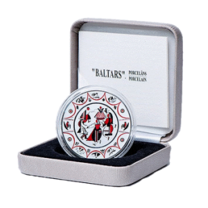 Латвия 5 евро Baltars Фарфор в упаковке