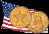 США монета 4 доллара 1879 года