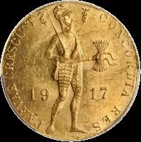 голландский дукат 1917, Россия, аверс