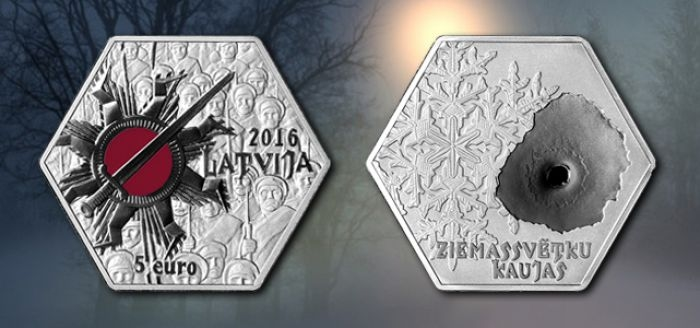 Латвия 5 евро Рождественские бои (Ziemassvētku kaujas)