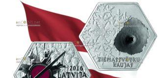 Мотены Латвии 5 евро - Ziemassvētku kaujas (Рождественские бои)