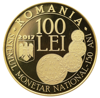 Румыния, 100 лей, 150-летию Закона О создании новой денежной системы - аверс