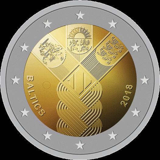 Балтийская монета 2 евро