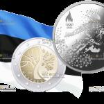 В Эстонии выйдут в обращение новые монеты 2 евро и 10 евро