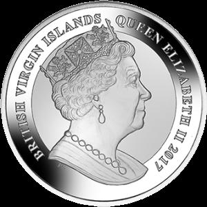 Британские Виргинские острова, 1 доллар Джон Кеннеди, аверс
