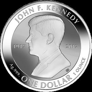 Британские Виргинские острова, 1 доллар Джон Кеннеди, реверс