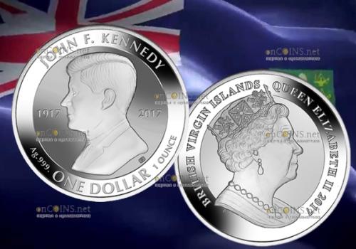 Британские Виргинские острова, 1 доллар Джон Кеннеди