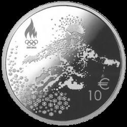Эстония, 10 евро, зимние Олимпийские игры в Пхенчхане 2018