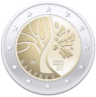 Эстония, 2 евро, Дорога Эстонии к независимости