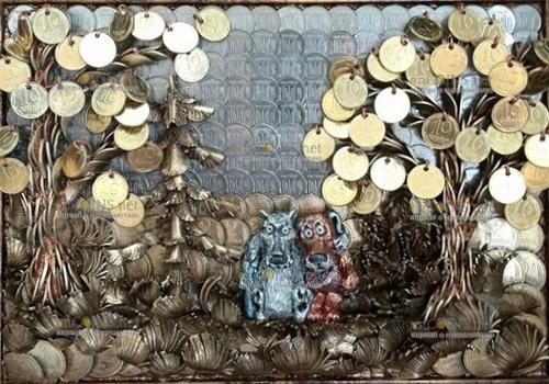 """Картины из монет """"пишет"""" художник из Украины"""
