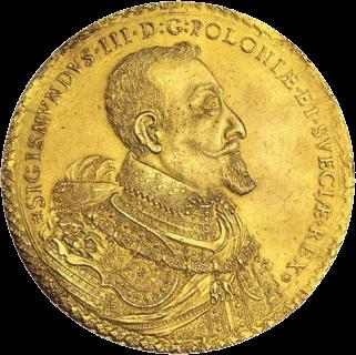 Польша, 100 дукатов Сигизмунда III Вазы, золото, 1621 год, аверс