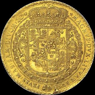Польша, 100 дукатов Сигизмунда III Вазы, золото, 1621 год, реверс