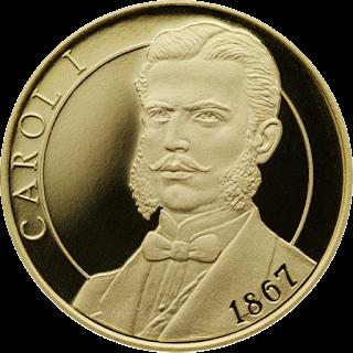 Румыния, 100 лей, 150-летию Закона О создании новой денежной системы - реверс