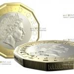 Самая защищенная монета в Мире британский фунт-стерлингов