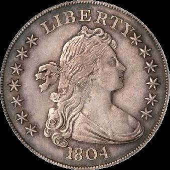 США, доллар Адамса-Картера 1804 год, серебро - реверс