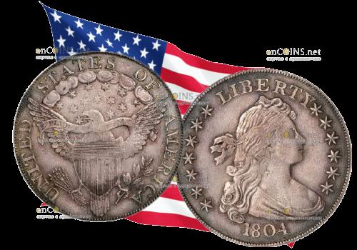 США, доллар Адамса-Картера 1804 год, серебро